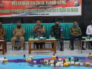 Polres Sumbawa melaksanakan kegiatan Tactical Floor Game (TFG) dalam rangka pelaksanaan Pengamanan Pilkada Sumbawa, Rabu (21/10/2020), di Rupatama polres Sumbawa.