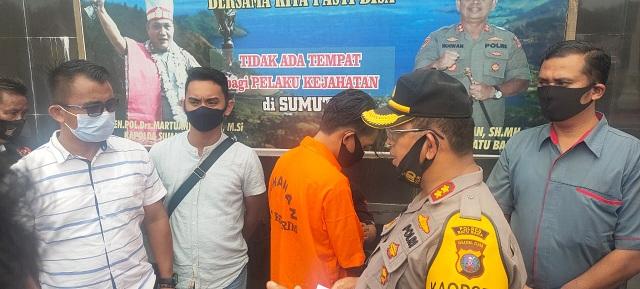 Kapolres Batu Bara AKBP Ikhwan Lubis,SH, MH Dalam Press Release , Kamis 22/10/2020