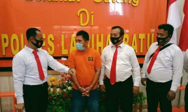 Edi Syahputra (45) ditangkap pada Sabtu 30 Oktober 2020 dalam pelariannya di Perairan Selat Malaka