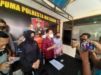 Satreskrim Polresta Mataram menangkap dan menahan pelaku dugaan pemerasan dan pengancaman. Pelaku berinisial AA (33 tahun)