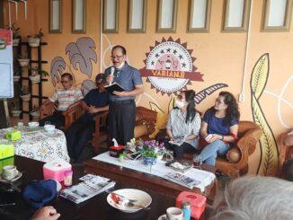 Walikota Asner Silalahi semasa hidupnya menghadiri undangan coffee morning bersama Warga Tomuan, Jumat (20/11/2020)