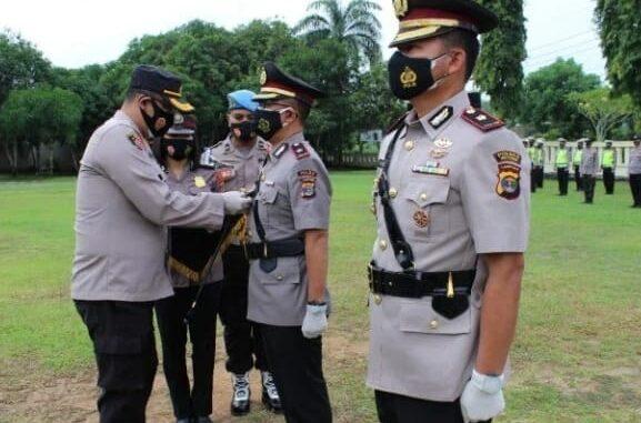 Kapolres Way Kanan, AKBP. Binsar Manurung, S.H., S.IK., M.Si. disaat acara sertijab Selasa 24/11/2020.