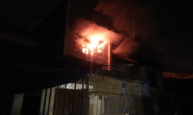Rumah Yang Terbakar, 05 Nopember 2020 sekira Pukul 20.00 Wib.