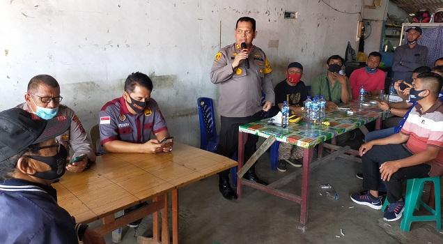 apolres Batu Bara AKBP H. Ikhwan Lubis, SH. MH, Kunjungi Markas Wappres di Kelurahan Lima Puluh