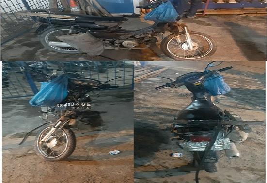sepeda motor Honda Astrea Legenda Nomor Polisi BK-3134-GE yang dikendarai oleh Juni Hadi