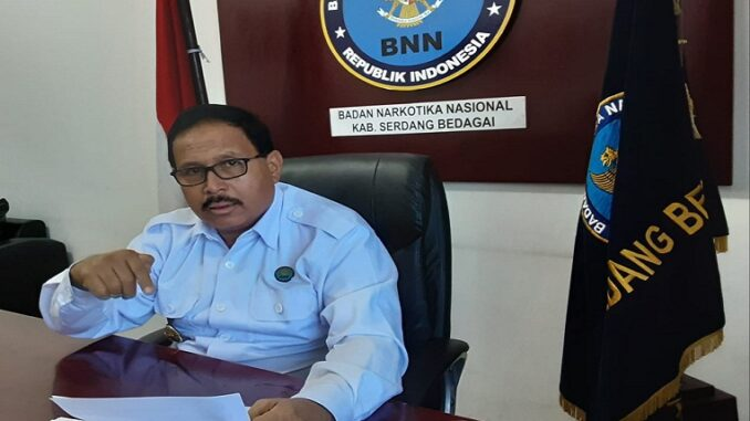 Kepala Badan Narkotika Nasional (BNN) Kabupaten Serdang Bedagai (Sergai), AKBP Drs Safwan Khayat M.Hum