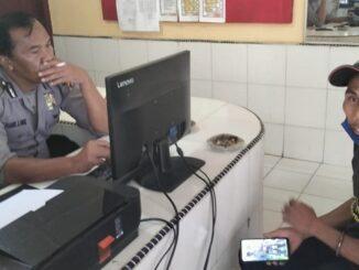 Zeth Fomeni alias Asep (47) Melaporkan kasus penganiayaan yang dialaminya ke Polsek Parapat