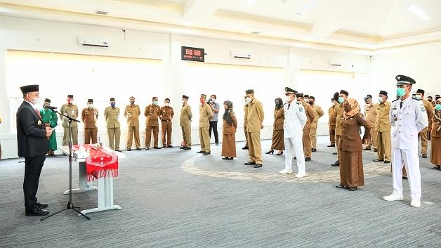 Bupati Batu Bara Evaluasi 9 Pejabat Eselon IV. 143 Pejabat Eselon di Lantik