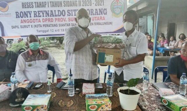 Reses Anggota DPRD Prov Sùmut, di dusun II Bangun putih, Nagori Pulo Bayu, Kecamatan Huta Bayuraja, SImalungun
