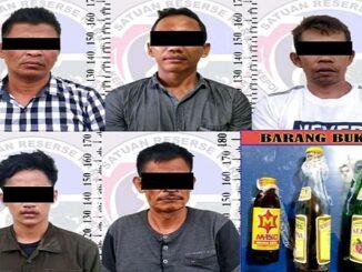 Kelima tersangka berinisial EKP (42), YLO (33), AAY (20), RMJ (57) dan ABR (42) kelimanya merupakan warga Kampung Pisang Indah Kecamatan Bumi Agung Kabupaten Way Kanan.