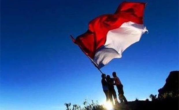 Ilustrasi bendera Merah Putih.
