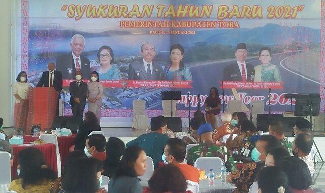 Pemerintah Kabupaten (Pemkab) Toba gelar acara syukuran Tahun Baru 2021