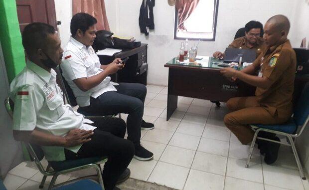 Disdukcapil Kabupaten Batu Bara, di Jalan Lintas Simpang Gambus Desa Bulan-bulan, Kecamatan Lima Puluh Sabtu (16/1/2021)
