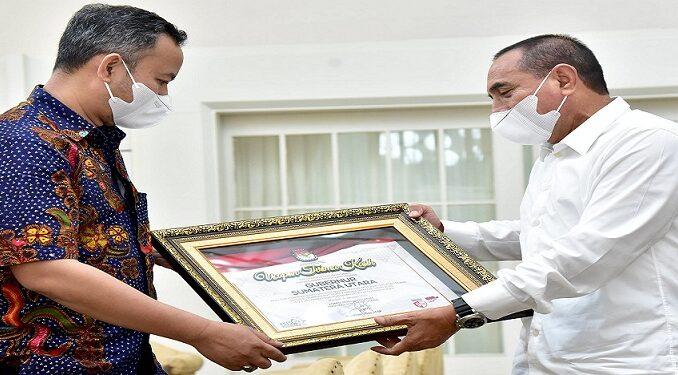 KPU Sumut Sampaikan Terima Kasih kepada Gubernur Edy Rahmayadi, Senin (18/1).