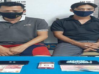 Dua orang yang ditangkap personel Satuan Reserse Narkoba (Sat Resnarkoba) Polres Siantar. yaitu Edi dan Riko