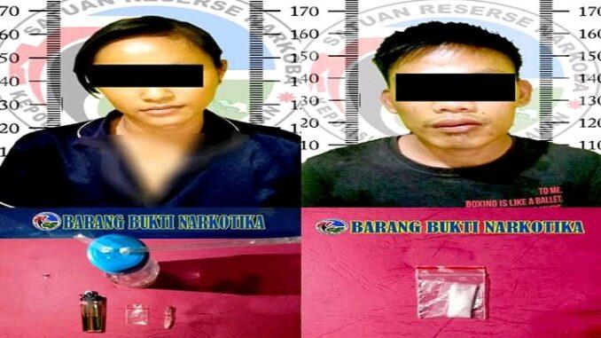 Polres Way Kanan Amankan Dua Pelaku Diduga Pengedar Sabu di Warung Unang Lupa