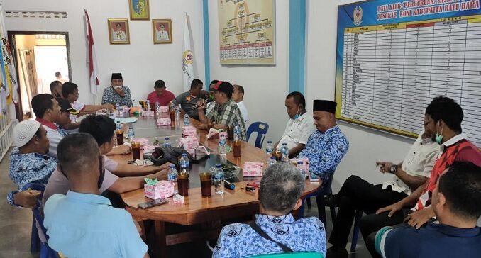 Pengurus Komite Olahraga Nasional Indonesia (KONI) Batu Bara mengggelar rapat program kerja (Proker) tahun 2021 dan persiapan PORWIL 2021 dan PORPROVSU tahun 2022.