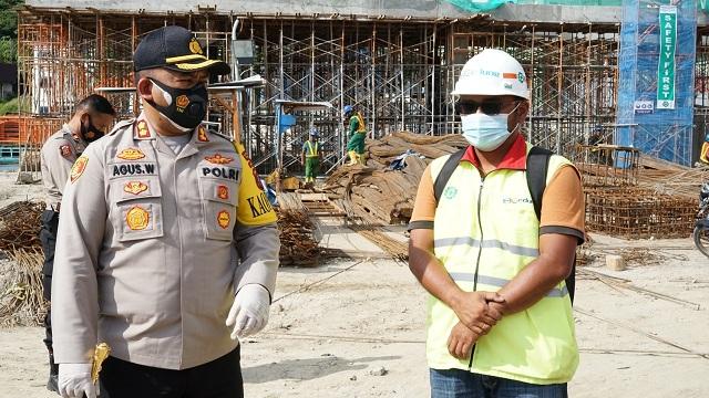 KAPOLRES Simalungun AKBP Agus Waluyo SIK Patroli serta Cek Proyek Pembangunan Super Prioritas Destinasi Pariwisata Parapat, Sabtu (27/02/2021)