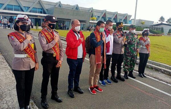 Bandara Internasional Silangit Siborongborong Tapanuli Utara Jumat (19/2/2021)