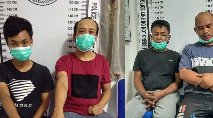 4 Pelaku Sabu di Ringkus Polres Pematang Siantar dari 2 Tempat Berbeda