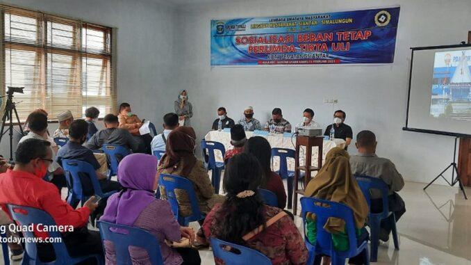 """Perumda Tirta Uli Sosialisasikan """"Beban Tetap"""" di Kecamatan Siantar Utara"""