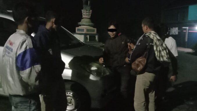 Seorang pemuda inisial RM (32) warga Kampung Dwikora Kecamatan Bukit Kemuning Kabupaten Lampung utara diamankan petugas Polsek Banjit
