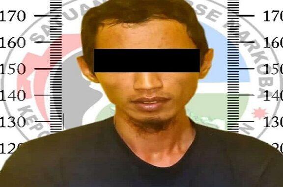 Tersangka berinisial AS (33) warga Kampung Tanjung R