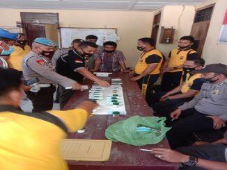 Personel Sipropam Sat Res Narkoba Polres Batu Bara secara mendadak melakukan pengecekan Narkoba terhadap 23 personel Posek Medang Deras