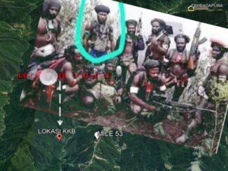 Danton OPM Ferry Elas yang tewas dalam baku tembak antara KKB dengan TNI-Polri (dilingkari merah).