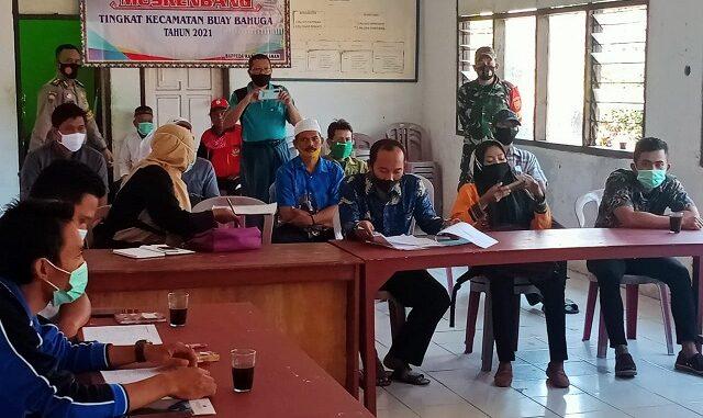Rapat koordinasi persiapan Pemilihan 3 Kepala Kampung di kecamatan Buay Bahuga yang di pusatkan di aula Kecamatan Buay Bahuga Kabupaten Way Kanan. Jum'at (19/03/2021)