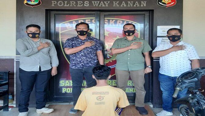 Pelaku penganiayaan berhasil diamankan Sat Reskrim Polres Way kanan