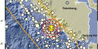 Foto : Gempa berkekuatan M5,2 terjadi pada Senin lagi (29/3) di Kabupaten Bengkulu Selatan dengan kedalaman pusat gempa 23 km. (BMKG)