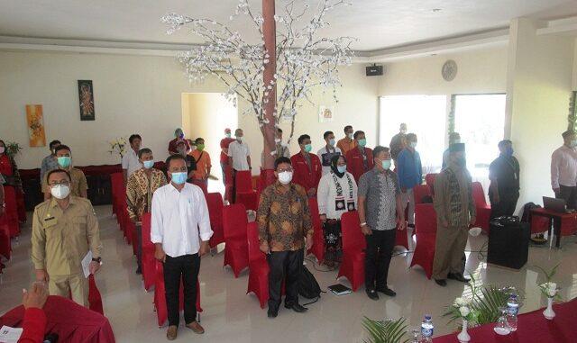 Acara Sarasehan Kebangsaan Alumni GMNI Pematangsiantar-Simalungun. Kegiatan digelar di Hotel Grand Palm Kota Pematangsiantar, Selasa (16/3/2020) pagi.