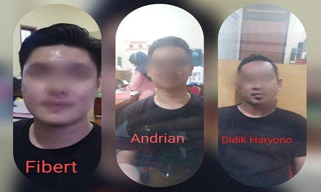 Aparat kepolisian menangkap tiga orang yakni, FR, AW, DH. Saat ini mereka sudah dilakukan penahanan di Polres Banyuwangi.