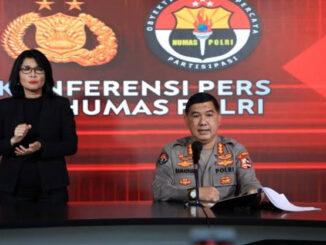 Kabag Penum Divisi Humas Polri Kombes Ahmad Ramadhan dalam jumpa pers di Mabes Polri