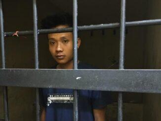 K (25), pria yang diduga memenggal dan mengarak kepala ayahnya keliling kampung di Lampung. (Dok. Polres Lampung Tengah)