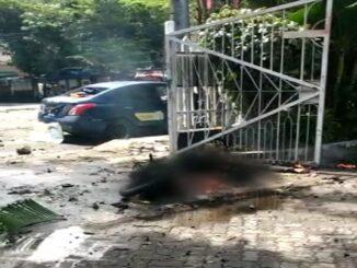 Screenshoot photo Situasi pasca bom bunuh diri di depan Gereja Katedral, Makassar