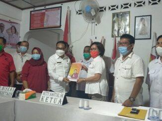 Astronot daftar di DPC Gerindra, Pematangsiantar, Rabu (30/3/2021) sekitar pukul 15.00.