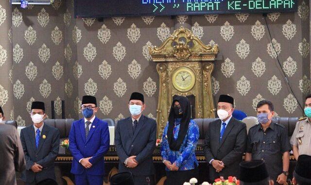 DPRD setempat menggelar sidang paripurna, Senin 01/03/2021.