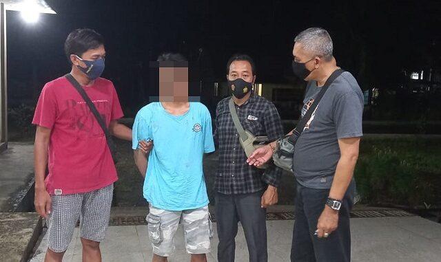 penangkapan tersangka AA (31), warga Dusun Prantap, Kecamatan Kopang