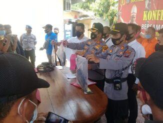 Kapolres Batu Bara AKBP Ikhwan Lubis, SH MH pada Pres Release di Mapolres Batu Bara, Senin (1/3/2021).