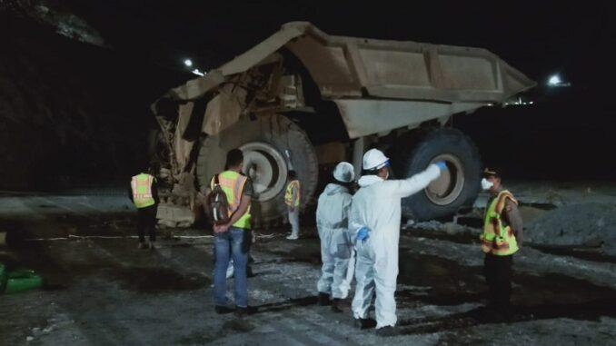 AH menjadi korban kecelakaan saat bekerja di Hole Mining tepatnya di Soutrem RL 105 dekat Puiler 174, Jumat (23/4) sekitar pukul 14.50 WITA.