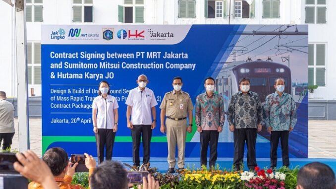 Tandatangani paket kontrak CP203, MRT Jakarta dukung pengembangan kawasan Kota Tua kedepan