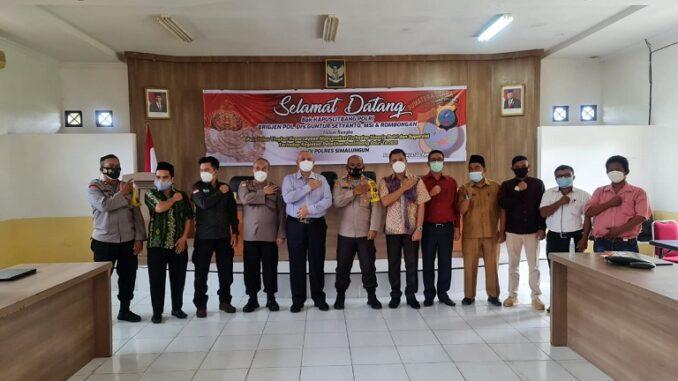 KAPOLRES Simalungun AKBP Agus Waluyo SIK menerima kunjungan kerja Kepala Pusat Penelitian dan Pengembangan (Kapuslitbang) Polri BRIGJEN (Pol) Drs. Guntur Setyanto MS