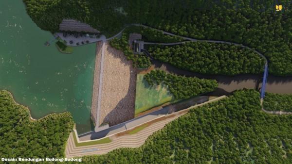 Desain Bendungan Budong-budong (Sumber: Humas Kementerian PUPR)