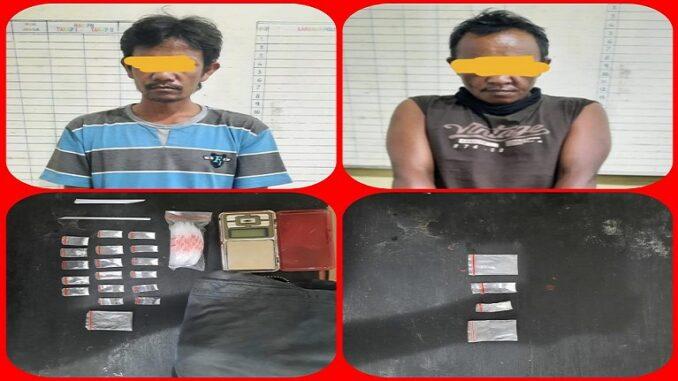Dua Warga Desa Gung Pinto Diringkus Satres Narkoba Polres Tanah Karo.