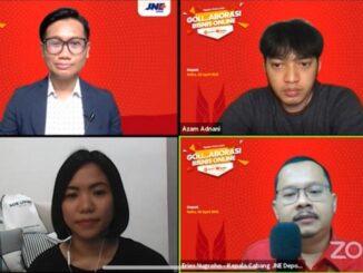 JNE bersama dengan MarkPlus, Inc. menggelar webinar JNE Ngajak Online 2021 – Goll…Aborasi Bisnis Online Kota Depok