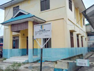 Poto/Ket : Kondisi Kantor Kelurahan Tanjung Tiram di Jalan Rakyat Kecamatan Tanjung Tiram Kabupaten Batu Bara. (Foto STAF07/KTN 3/4/2021)