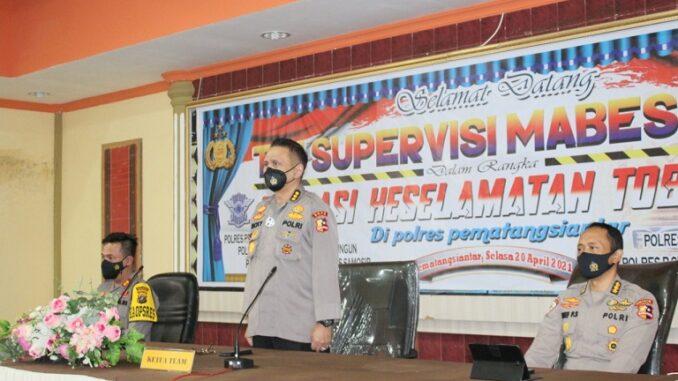 """Polres Pematangsiantar Terima Kunjungan Tim Supervisi Mabes Polri """"Ops Keselamatan Toba 2021"""""""