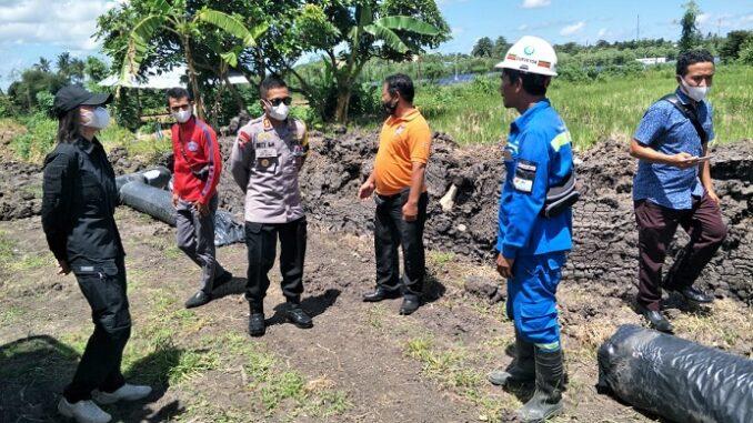 Areal proyek pembangunan Bypass BIL-Mandalika, Selasa (20/4).